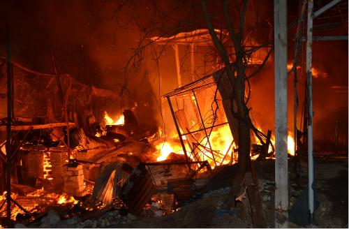 Дачные дома полыхали напричале вОдессе